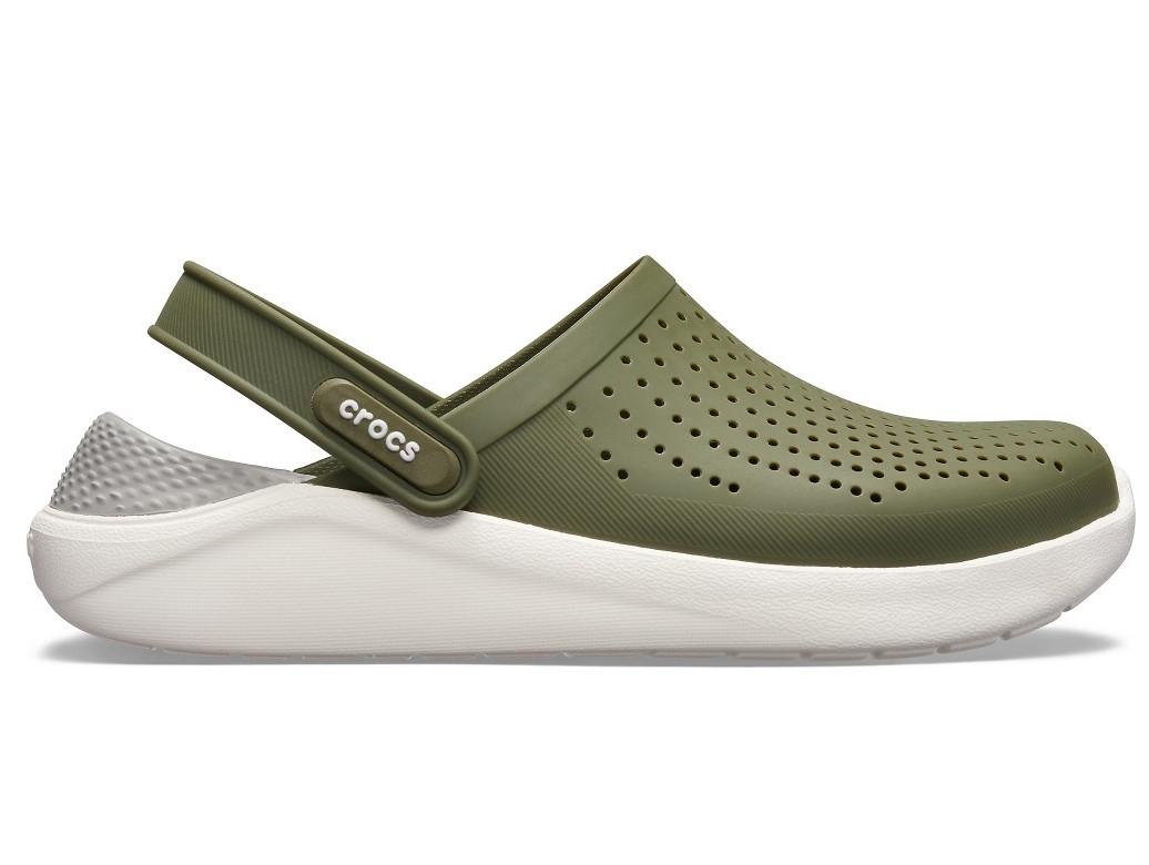 Кроксы сабо Мужские LiteRide ClogArmy Green/White M7-W9 39-40 24,6 см Хаки