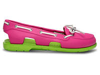 Кроксы сабо Женские Beach Line Boat Shoe Woman Fuchsia/Volt Green W5 34-35 21,1 см Розовый с Зеленым