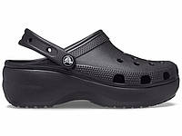 Крокси сабо Жіночі Classic Platform Black W7 37-38 23,8 см Чорний