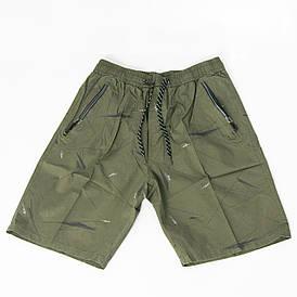 Мужские котоновые шорты до колен (арт. 23-9667) Зелёный, XL