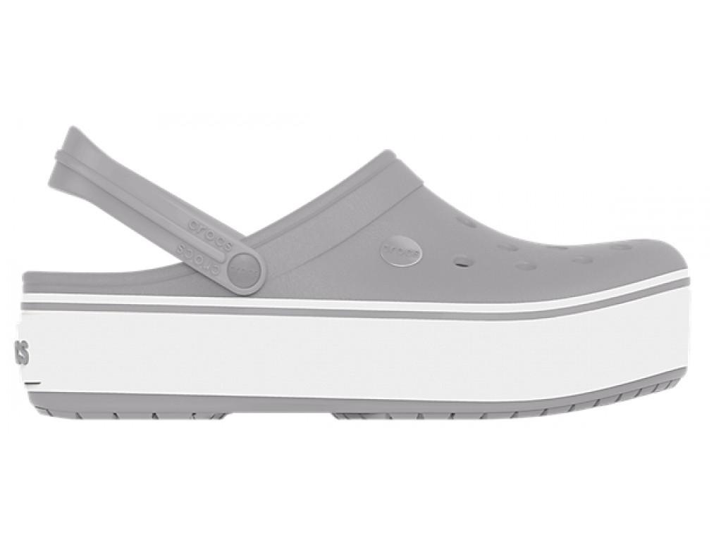 Кроксы сабо Женские Crocband Platform Grey M6-W8 38-39 23,8 см Серый