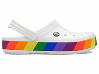 Кроксы сабо Женские Crocband Rainbow Block Clog White M6-W8 38-39 23,8 см Белый