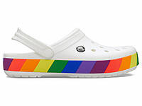 Крокси сабо Жіночі Crocband Rainbow Block Clog White M7-W9 39-40 24,6 см Білий