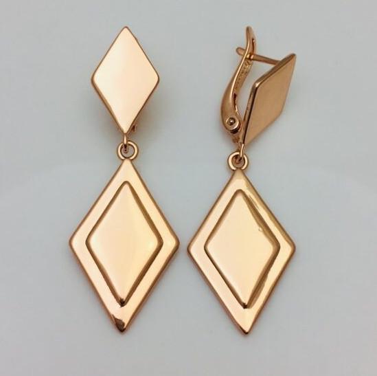 Сережки жіночі Fallon Jewelry, мед золото, 82100827 висота 46 мм ширина 16 мм, позолота
