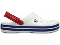Кроксы сабо Мужские Crocband White/Blue M11 45-46 28 см Синий с Белым