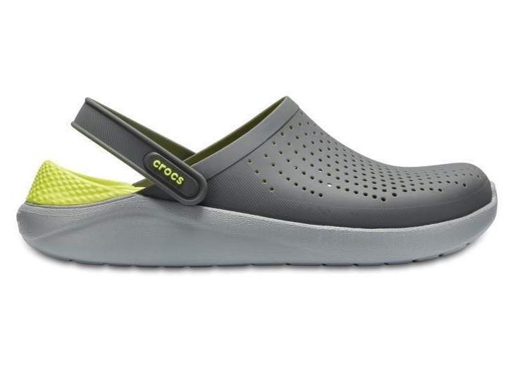 Крокси сабо Чоловічі LiteRide Clog Grey/LightGreen M6-W8 38-39 23,8 см Сірий
