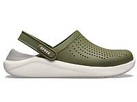Крокси сабо Чоловічі LiteRide ClogArmy Green/White M5-W7 37-38 22,9 см Хакі