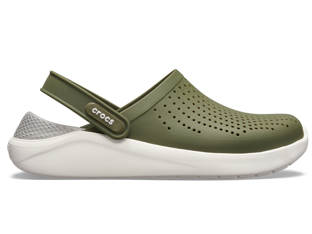 Кроксы сабо Мужские LiteRide ClogArmy Green/White M6-W8 38-39 23,8 см Хаки