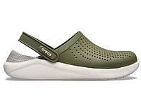 Крокси сабо Чоловічі LiteRide ClogArmy Green/White M7-W9 39-40 24,6 см Хакі