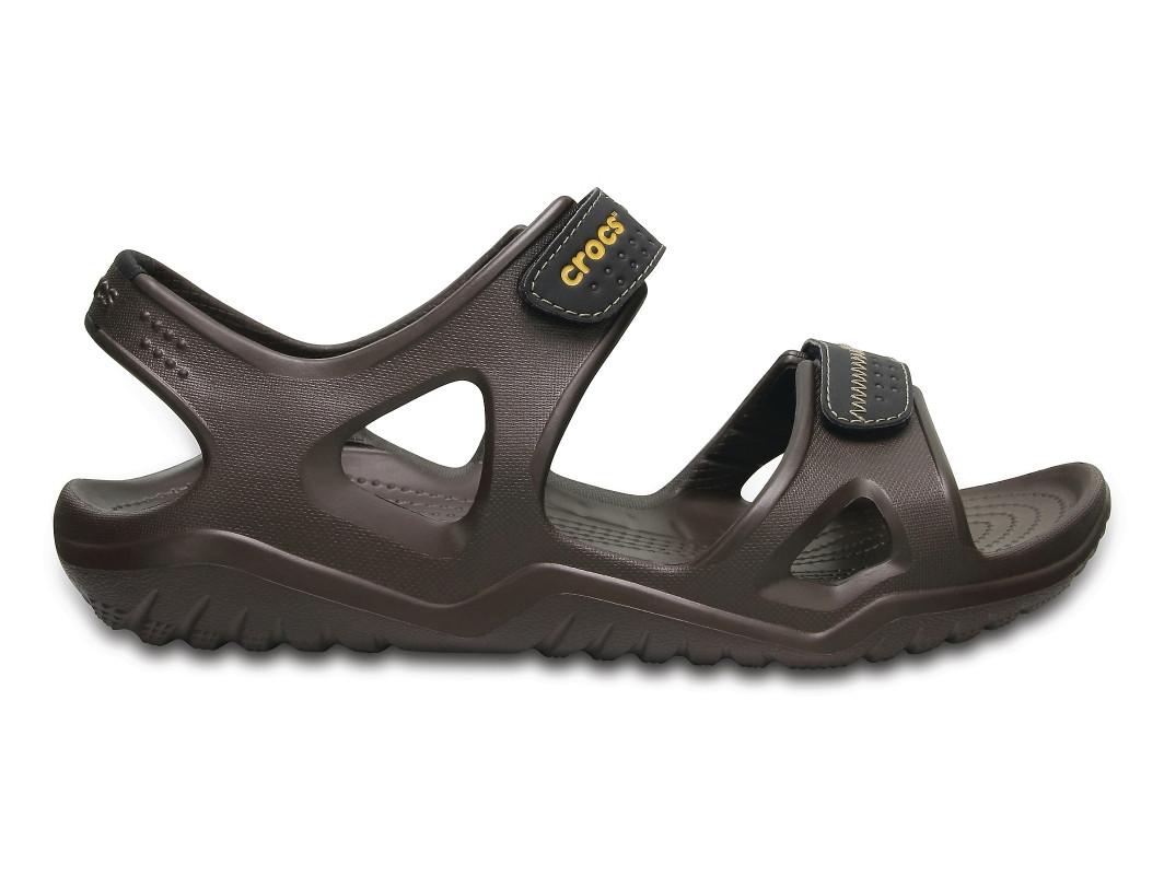 Кроксы сабо Мужские Swiftwater River Sandal Espresso М11 45-46 28 см Коричневый