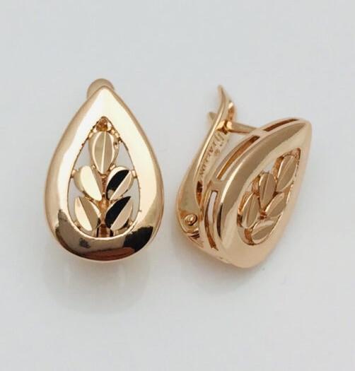 Сережки женские Fallon Jewelry, мед золото, 82100832 высота 17 мм ширина 11 мм , позолота