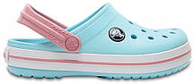 Крокси сабо Дитячі Crocband Kids Ice Blue/White C13 30-31 19,1 см Світло-блакитний