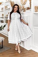 Летнее платье стрейчпрошвы.. Размеры 52,54,56,58
