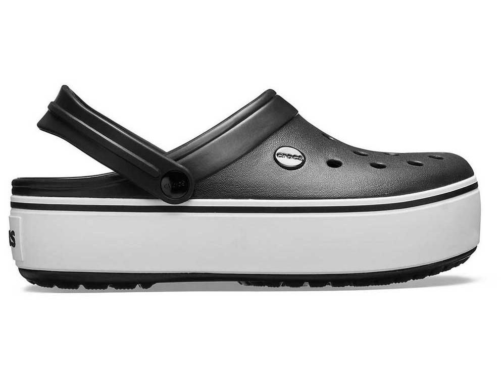 Кроксы сабо Женские Crocband Platform Black white M5-W7 37-38 22,9 см Черный