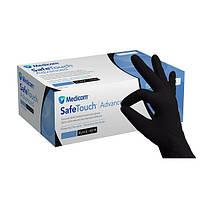 MEDICOM Нитриловые черные перчатки S (6-7) SAFETOUCH ADVANCED BLACK [упаковка 100 шт (50 пар)]
