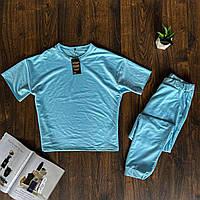 Женский спортивный костюм штаны+ футболка. Женский однотонный костюм лето