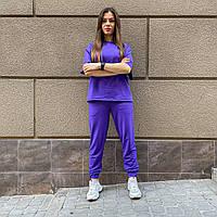 Женский спортивный костюм однотонный. Женский спортивный лето, футболка+штаны