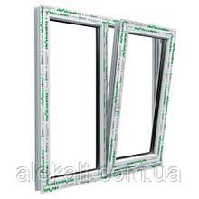 Окно Steko, металло-пластиковое, 1300*1400 мм, S400, поворотно-откидное