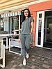 Стильний, модний жіночий літній спортивний костюм штани+футболка (р. 42-56). Арт-4401/33