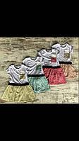 Плаття для дівчинки на 2-5 років жовтого, м'ятного, рожевого, персикового, червоного кольору в смужку оптом