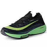 Чорно зелені кросівки в стилі Nike Air Zoom Alphafly Next, фото 3