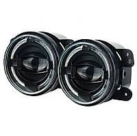 Протитуманні світлодіодні фари 4 дюйма LED (90 mm) (LED) WM-J044F-E, Jeep, Dodge, Chrysler