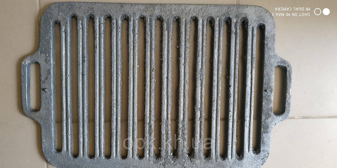 Решітка чавунна для гриля і барбекю 360*260 мм Чавунна решітка гриль барбекю 400*300 мм