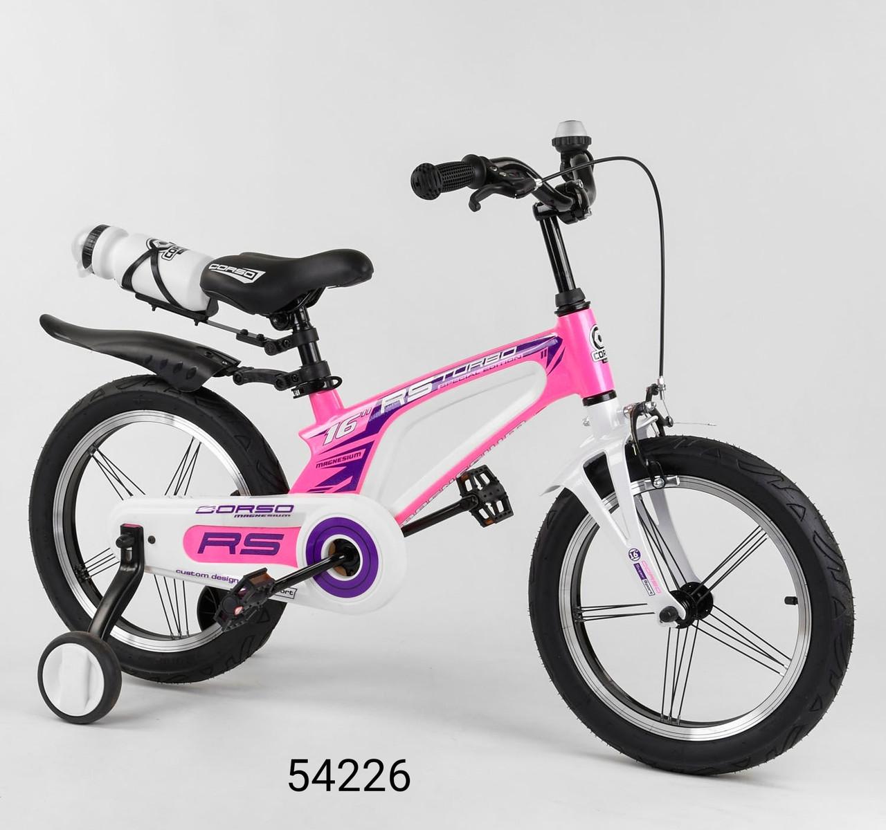 Велосипед магниевый 16 дюймов  CORSO алюминиевые диски