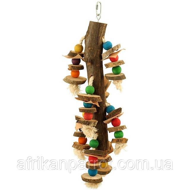 Дерев'яна іграшка для папуги (Мозайка)