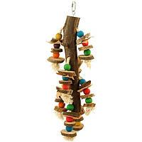 Деревянная игрушка для попугая.