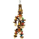Дерев'яна іграшка для папуги (Мозайка), фото 2