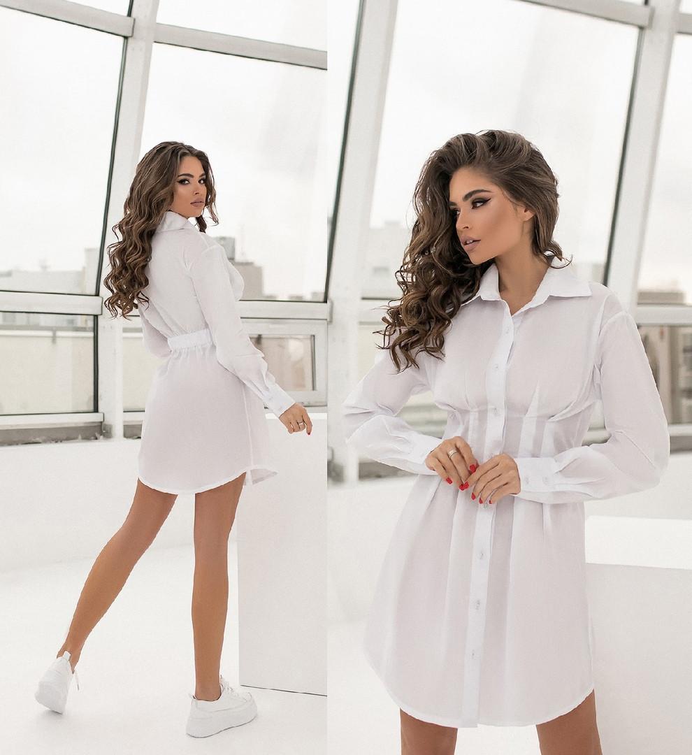Женское коттоновое платье-рубашка.Размеры:42/48+Цвета