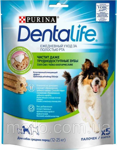 Purina DentaLife Ласощі для собак середніх порід 5*115г 54100.