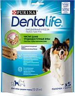 Purina DentaLife Ласощі для собак середніх порід 5*115г 54100., фото 1