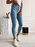 Жіночі джинси, блакитні, стрейч джинс, добре тягнуться, фото 2