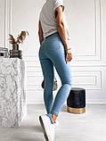 Жіночі джинси, блакитні, стрейч джинс, добре тягнуться, фото 3