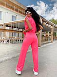 Женский спортивный повседневный костюм свободного кроя с разрезом черный оранжевый малиновый лимонный, фото 4