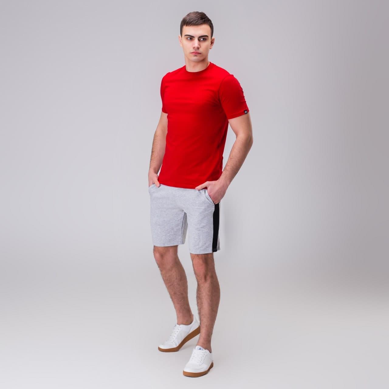 """🔥 Чоловіча футболка Pobedov """"Peremoga"""" червона літня легка на кожен день"""