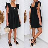 Женское котоновое платье свободного кроя черное желтое красное белое, фото 2