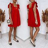 Женское котоновое платье свободного кроя черное желтое красное белое, фото 3