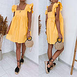Женское котоновое платье свободного кроя черное желтое красное белое, фото 4