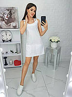 Женское льняное платье-сарафан, фото 1