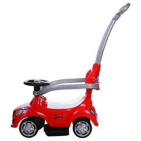 Машина-толокар з батьківською ручкою Червоний FD-6812-3