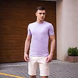 """🔥  Мужская футболка Pobedov """"Peremoga"""" светло-лиловая летняя легкая на каждый день, фото 2"""