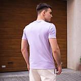 """🔥  Мужская футболка Pobedov """"Peremoga"""" светло-лиловая летняя легкая на каждый день, фото 3"""