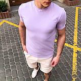 """🔥  Мужская футболка Pobedov """"Peremoga"""" светло-лиловая летняя легкая на каждый день, фото 4"""
