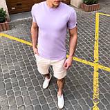 """🔥  Мужская футболка Pobedov """"Peremoga"""" светло-лиловая летняя легкая на каждый день, фото 6"""