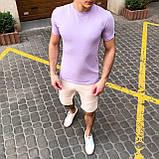 """🔥  Мужская футболка Pobedov """"Peremoga"""" светло-лиловая летняя легкая на каждый день, фото 5"""