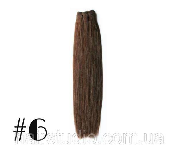 Волосы Remy на трессах длина 50 см оттенок №6