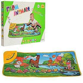Інтерактивний розвиваючий музичний килимок Toy Kingdom Ферма 73 х 31 см YQ3004